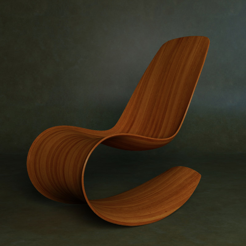 3D rocking chair model