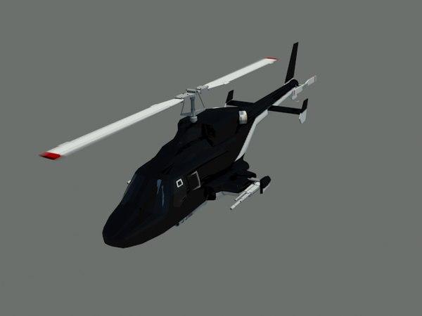 3D model airwolf