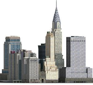 3D new york manhattan midtown model