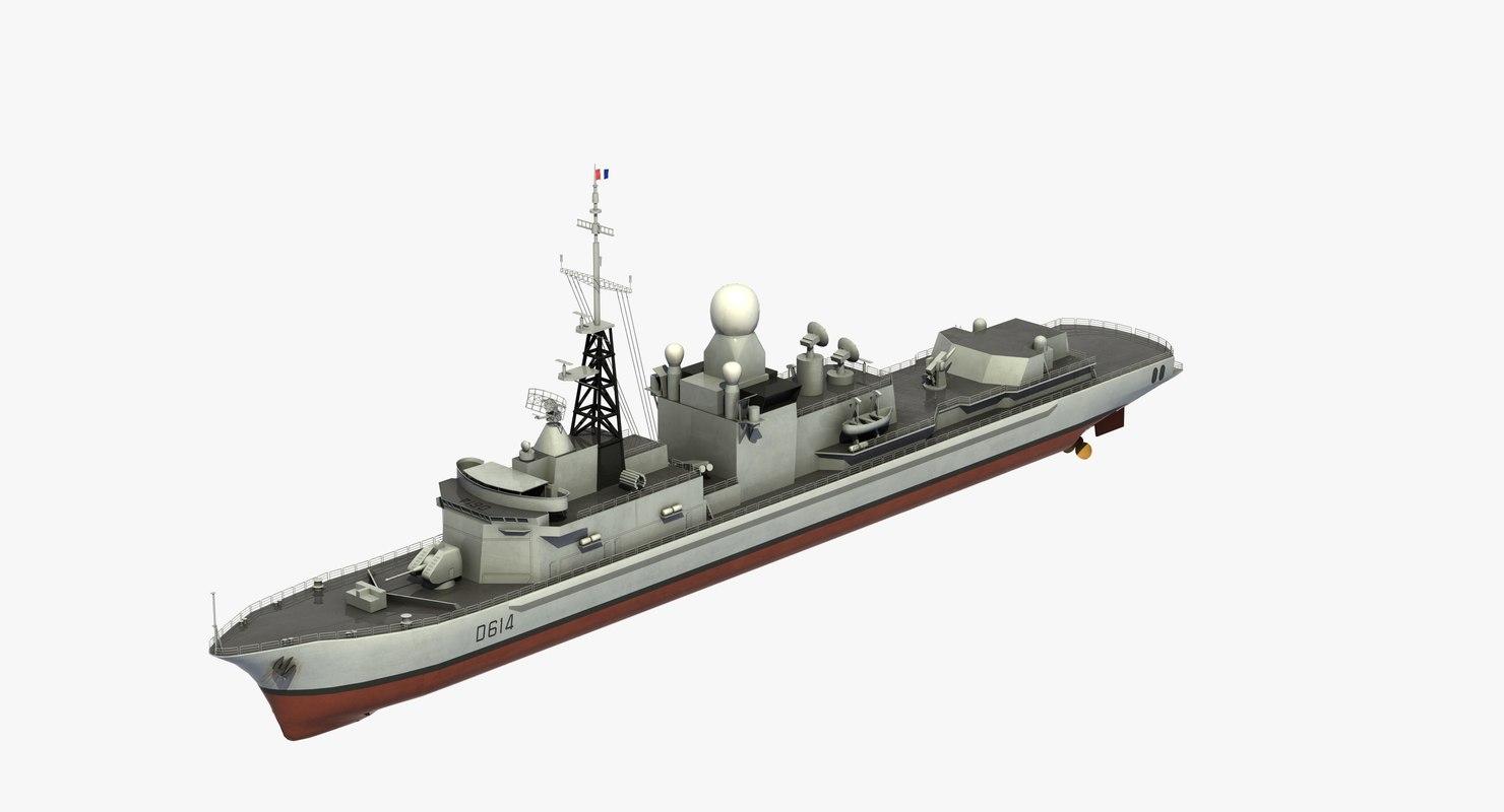cassard class frigate 3D model
