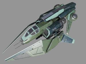 3D spaceship fighter