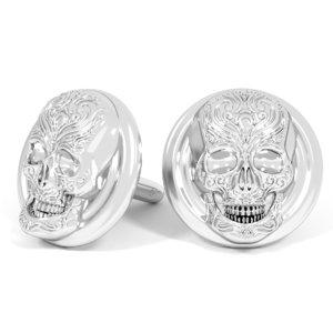 3D cufflinks skull model
