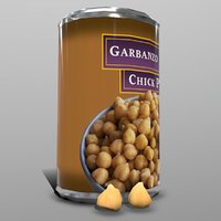 3D garbanzo bean