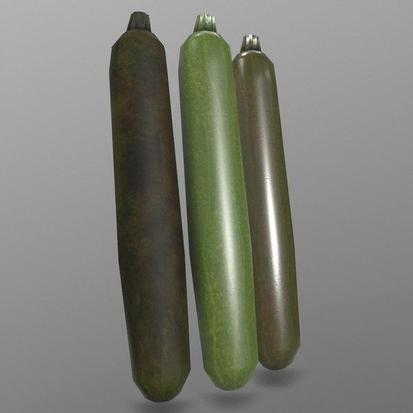 3D zucchini ready games model