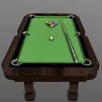 3D pool table set