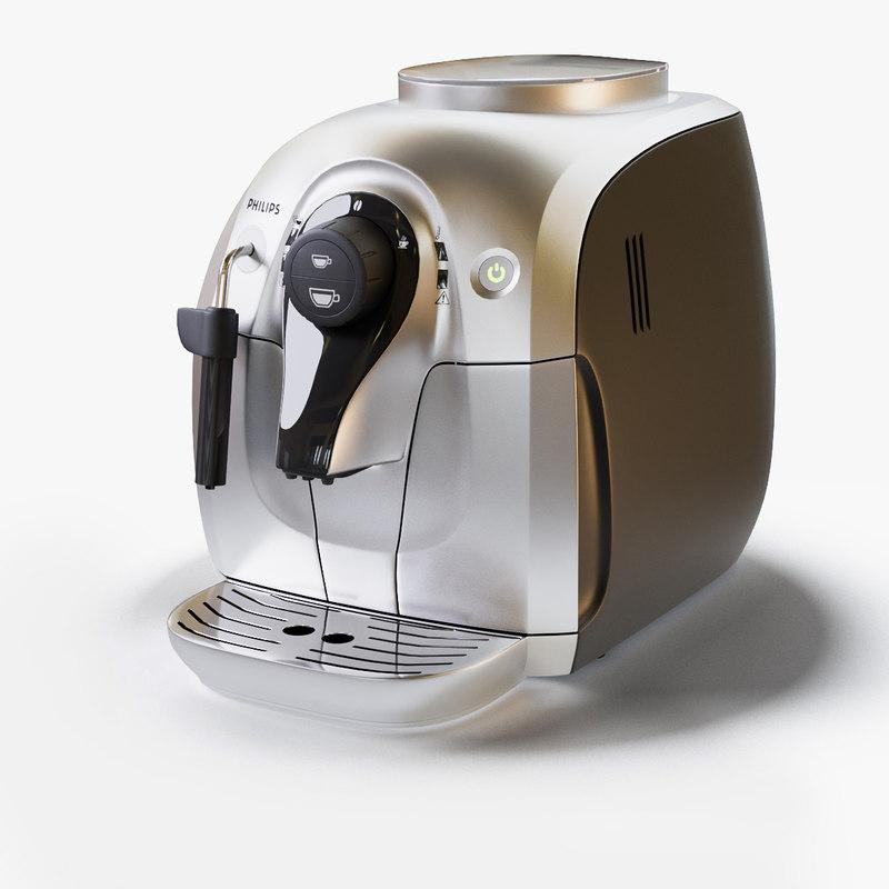 3D model coffee maker philips hd