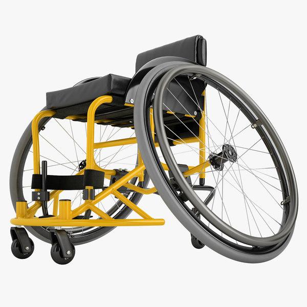 sport wheelchair 3D model