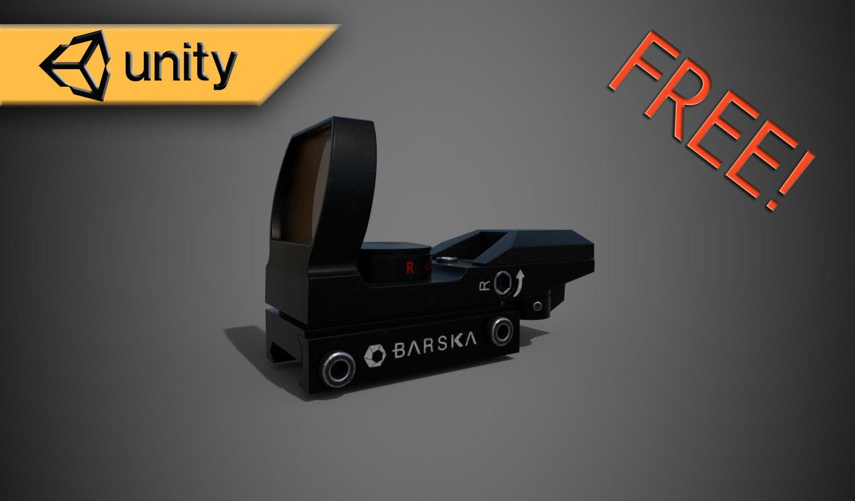 3D collimator sight barska model