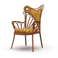 Art Nouveau Style Chair (with Unwrapped Uvs)