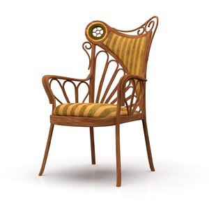 art nouveau style chair model