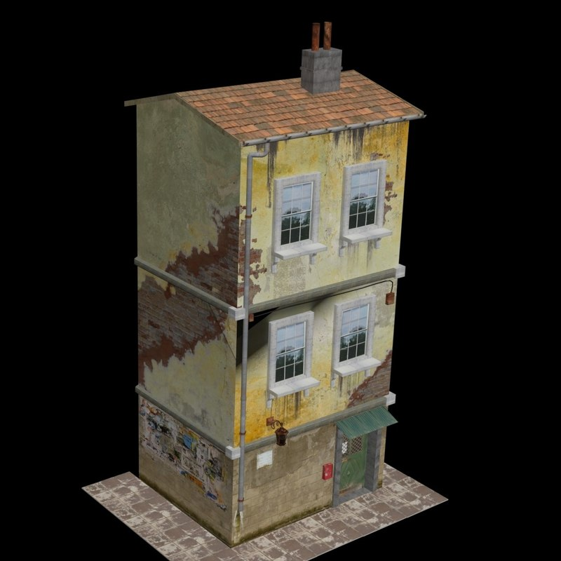 ruined building 3D model