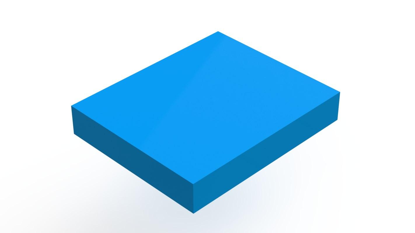 rectangular prism 3D model