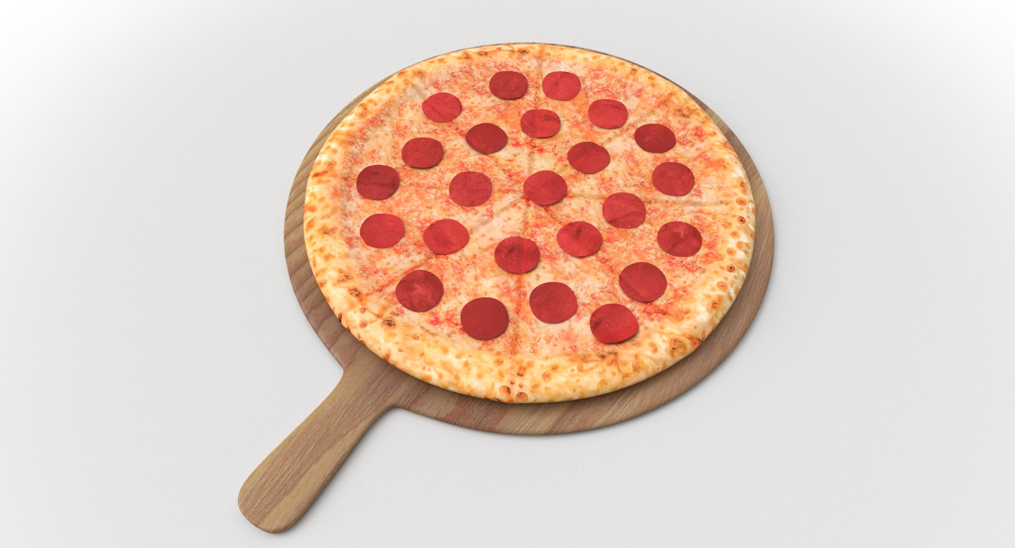 stuffed pizza 3D model