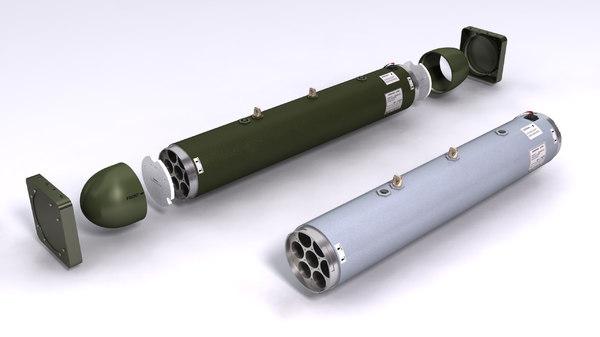 3D lau-68 lau-131 rockert launchers model