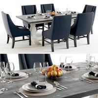 Trestle Vintage Dark table set