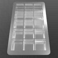 3D ice cube tray model