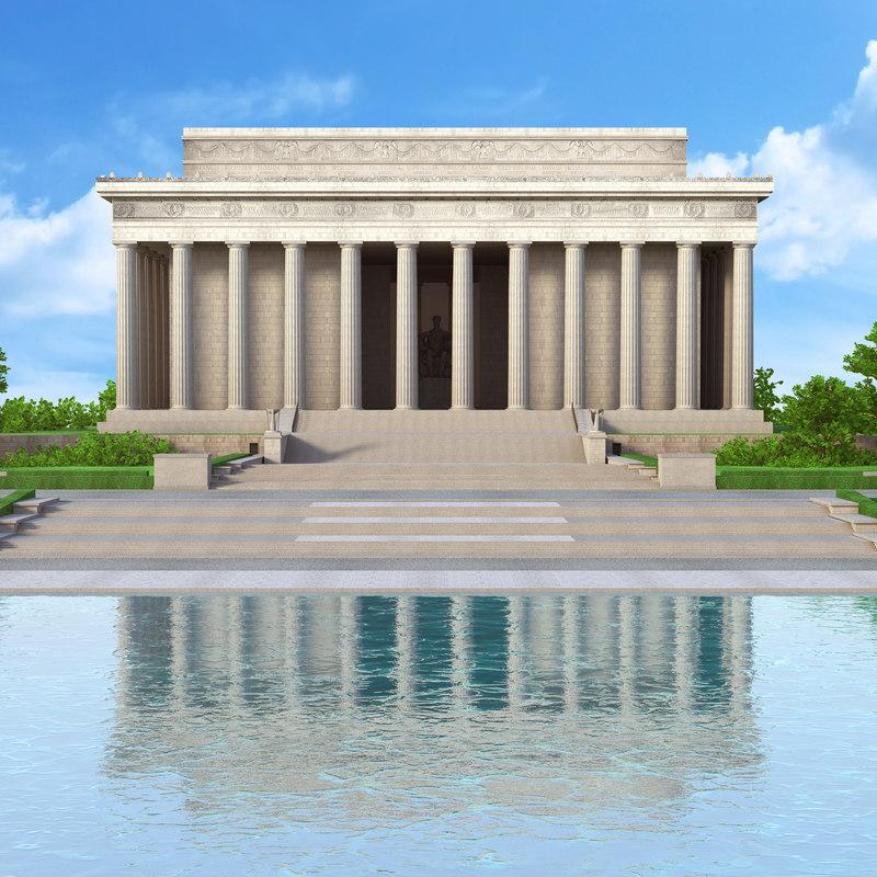 memorial monument washington d 3D model