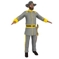 3D civil war officer