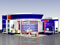 exhibition stand v2 3D
