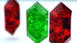 3D crystal cut model