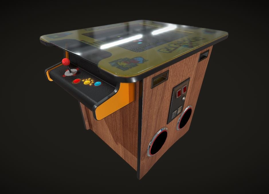3D cocktail table arcade machine