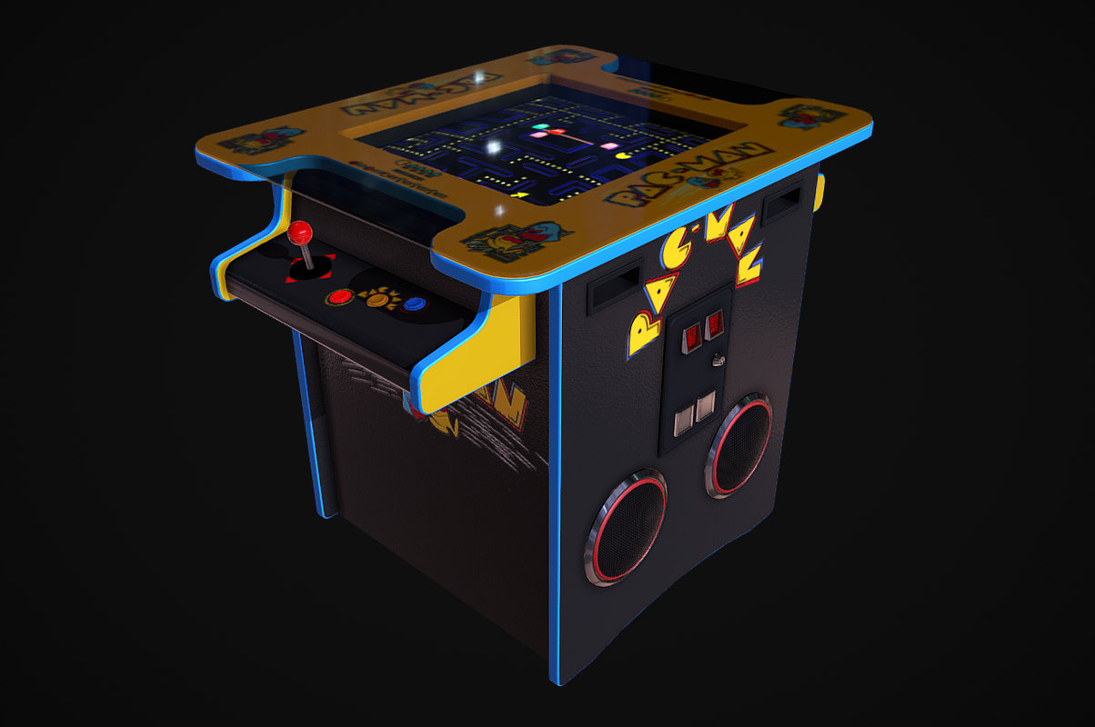 3D cocktail table arcade machine
