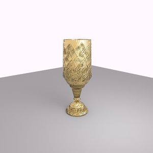 3D gold cup
