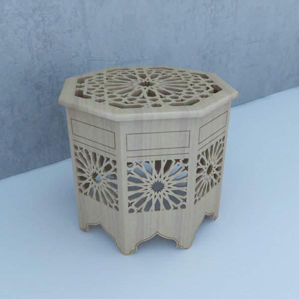 3D traditional table model