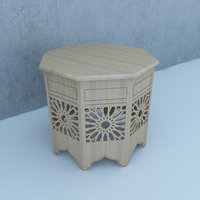 traditional table 3D model