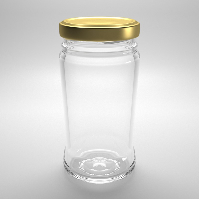 3D glass jar 212ml model