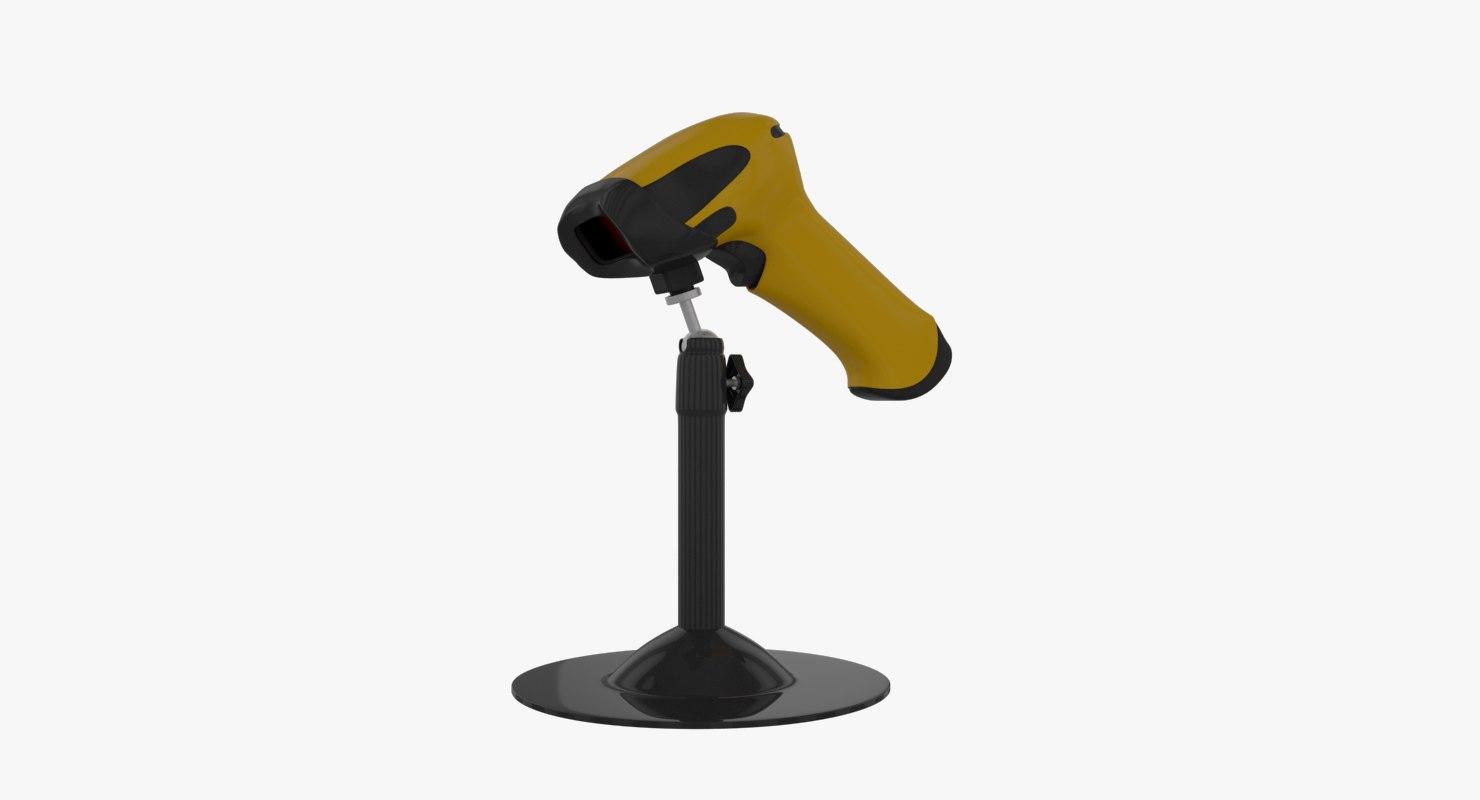 3D model barcode scanner jp-a3