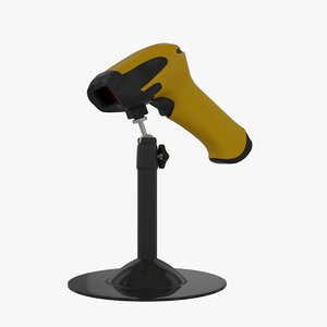3D model barcode scanner jp-a3