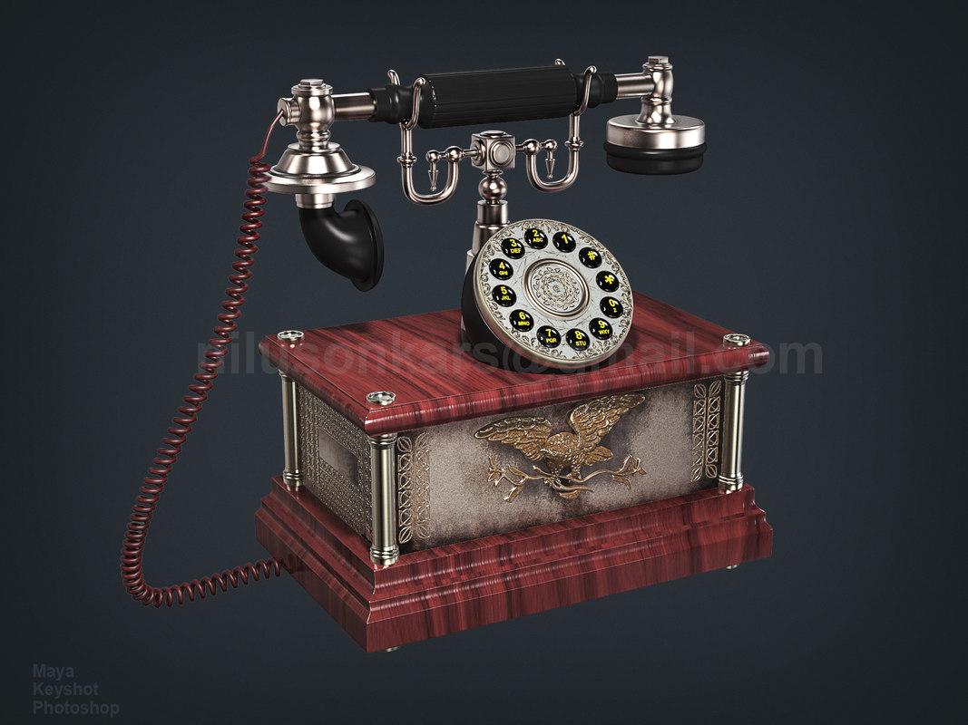 3D 1911 american eagle antique phone
