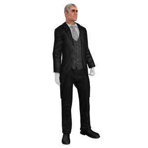 3D butler rigged