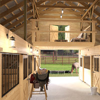 3D horse barn