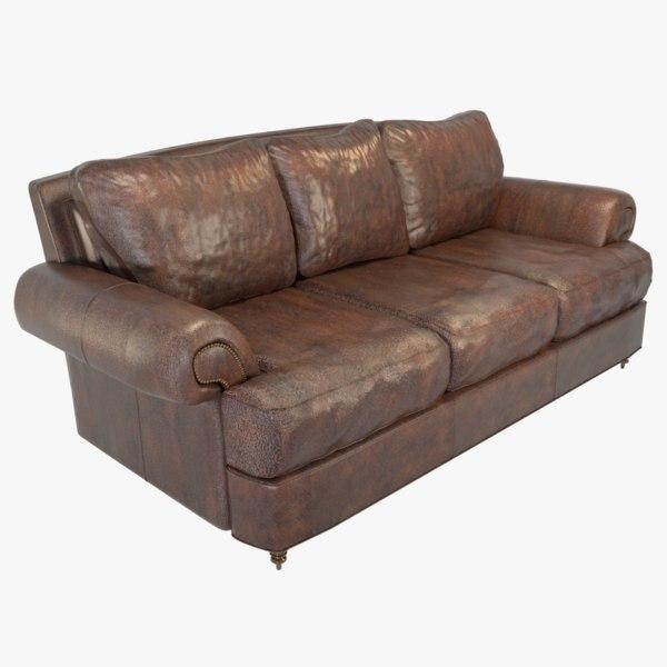 hyde leather sofa 3D model