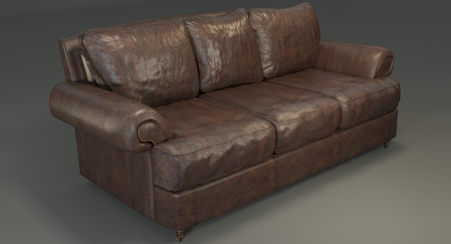 hyde leather sofa 3D model