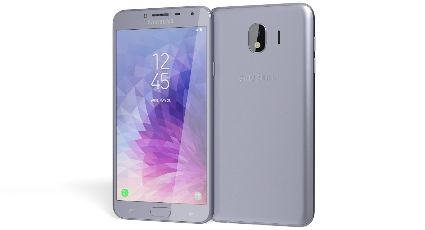 realistic samsung galaxy j4 3D model