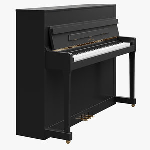 3D digital piano model