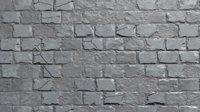 3D model stones brick wall