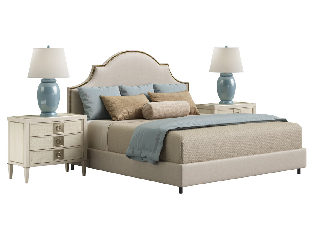 horchow cheresse king bed 3D model