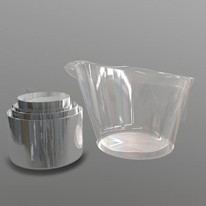 measuring cups 3D model