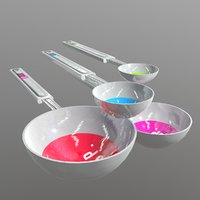 3D measuring spoons model