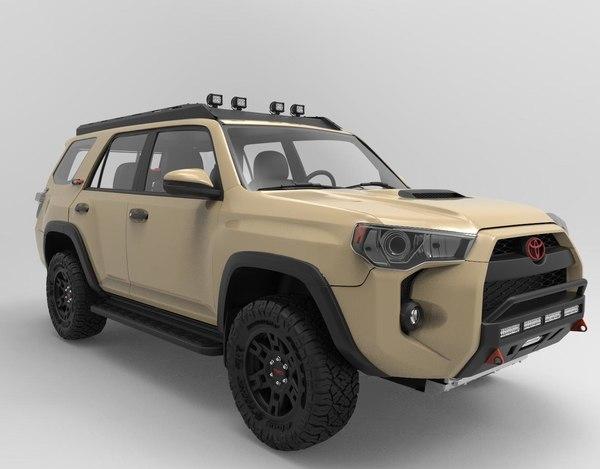 3D model toyota 4runner trd pro