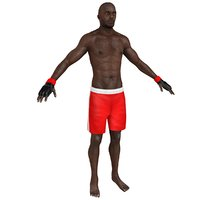 mma fighter 3D model