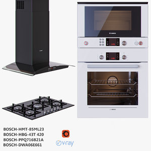 bosch cooktop oven microwave 3D model