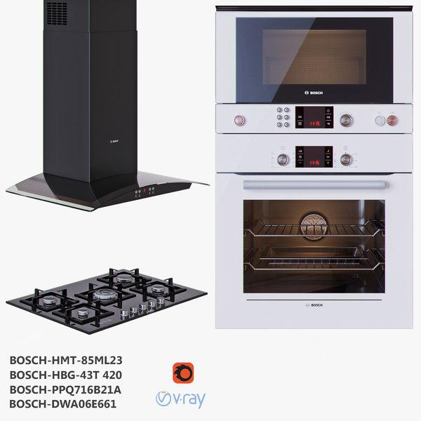 bosch cooktop oven microwave 3D model