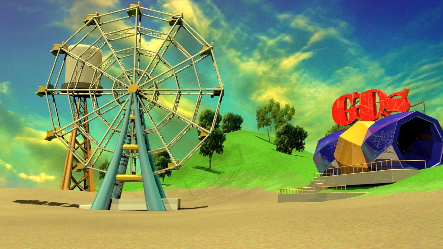 ferris-wheel land 3D