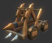 battering ram 3D model