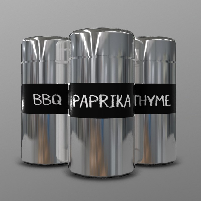 3D model spice shakers